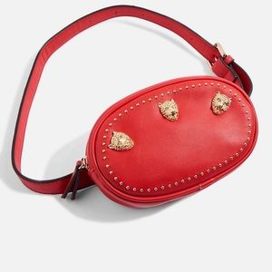 Never worn Topshop Red fanny pack
